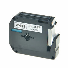 """1PK MK231 M-K231 Black on White Label Tape for Brother P-Touch PT-45M 12mm 1/2"""""""