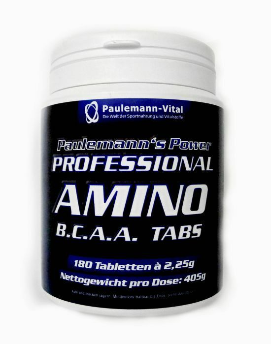 Professional Amino BCAA Tabs Paulemann-Vital doppelte Menge Eur 6,15 100g