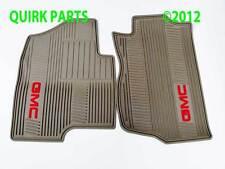 2007-2012 GMC Yukon Front Premium All Weather Floor Mats Cashmere w Logo OEM NEW