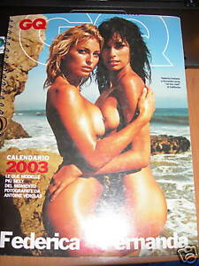 Calendario Gq.Details About Calendar Sexy Federica Fernanda Gq Lessa Fontana