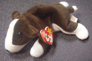 4abd6b42144 TY Original Bruno the Dog Beanie Baby - retired - birth date 9 9 97 ...
