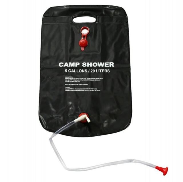 Solar Shower Bag 20l Camping Sun Energy Heated Bathing Hiking Travel Outdoor