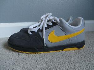 Nike 6.0 Vintage Air Mogan Grey/Yellow Boy/Girl's Sneakers Skate Shoes Size 6Y