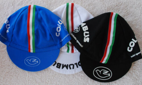 Black or All Three Columbus Cycling Cap Bike Hat White Blue