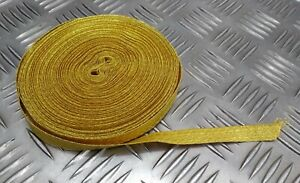 Genuine British Made Military Issue 12mm Gold Mylar Rank Lace Braided Tape RC9