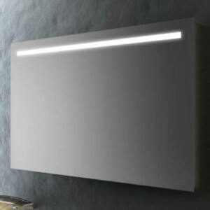 Specchio bagno a muro da 90x60 cm retroilluminato a LED luce ...