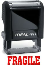Fragile Stamp Text On The Ideal 4911 Self Inking Rubber Stamp With Red Ink
