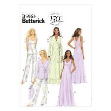 Butterick 5963 Sz 6-22 Lace Nightgown Robe Pajamas Pants Sleepwear Wrap Pattern
