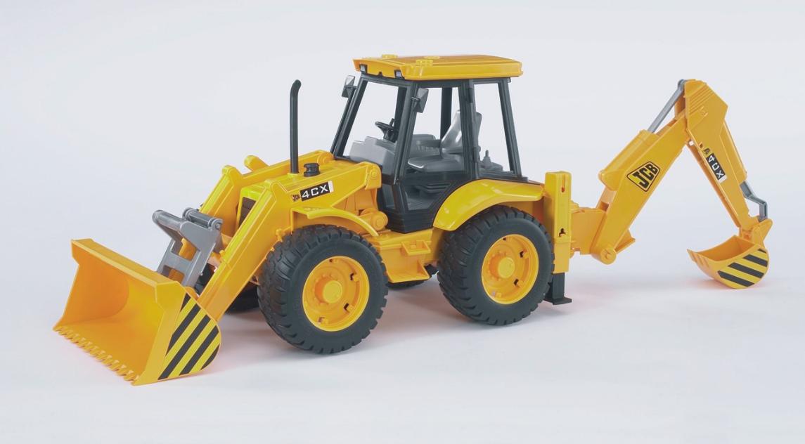 ROAD LOADER with excavator JCB 4CX Bruder Toy Car Model 1 16 1 16