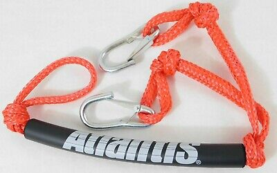 ATLANTIS TOW ROPE DOUBLE HOOK-UP PWC BOAT WATERCRAFT SNAP HOOK RED
