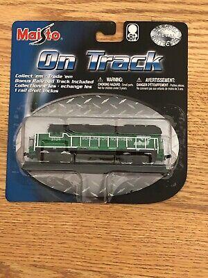 Maisto On Track Die Cast Train Burlington Northern With Track | eBay