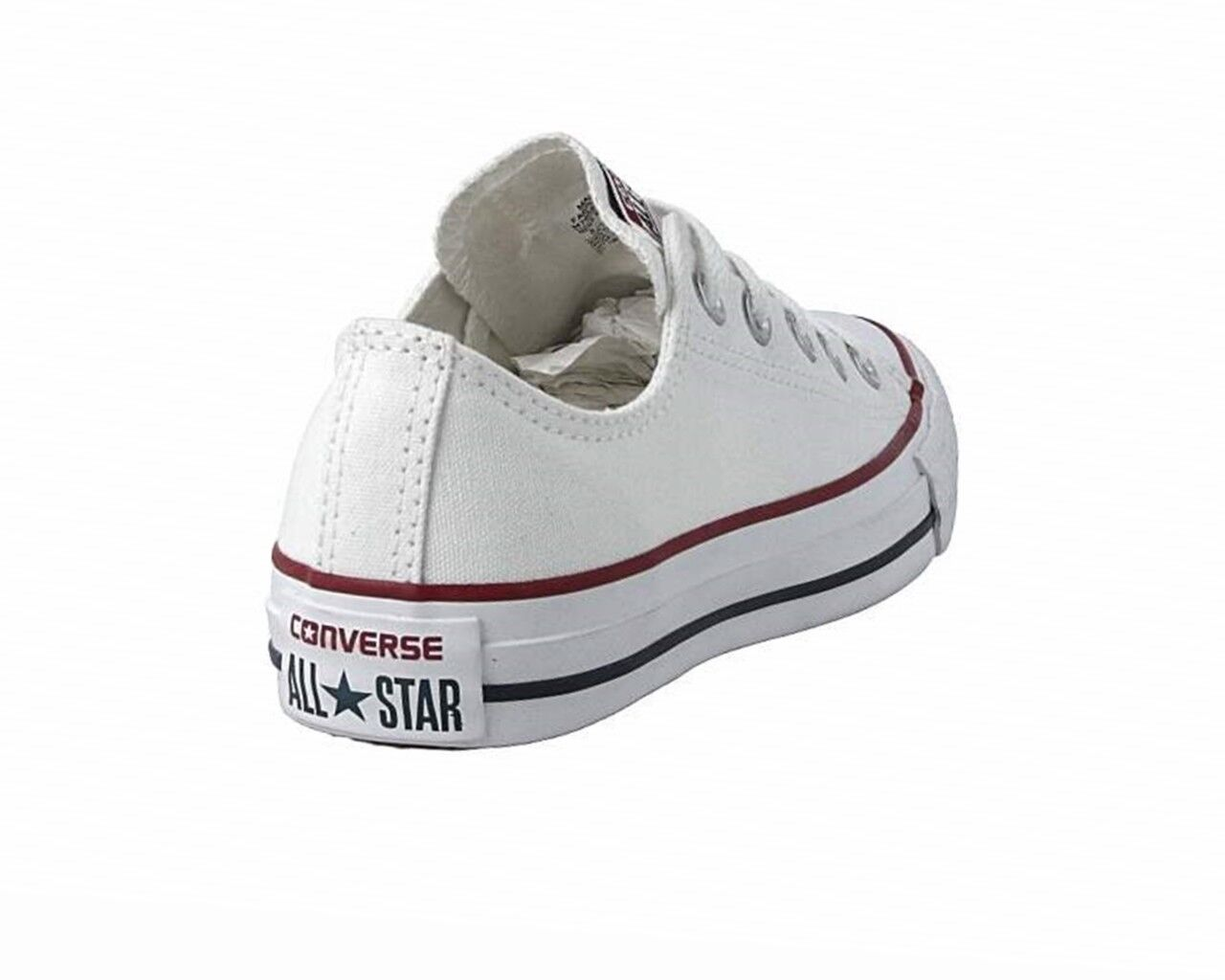 Uomo Trainers Converse All Star OX M7652C Canvas Damenschuhe Trainers Uomo Optical Weiß Schuhes 580436