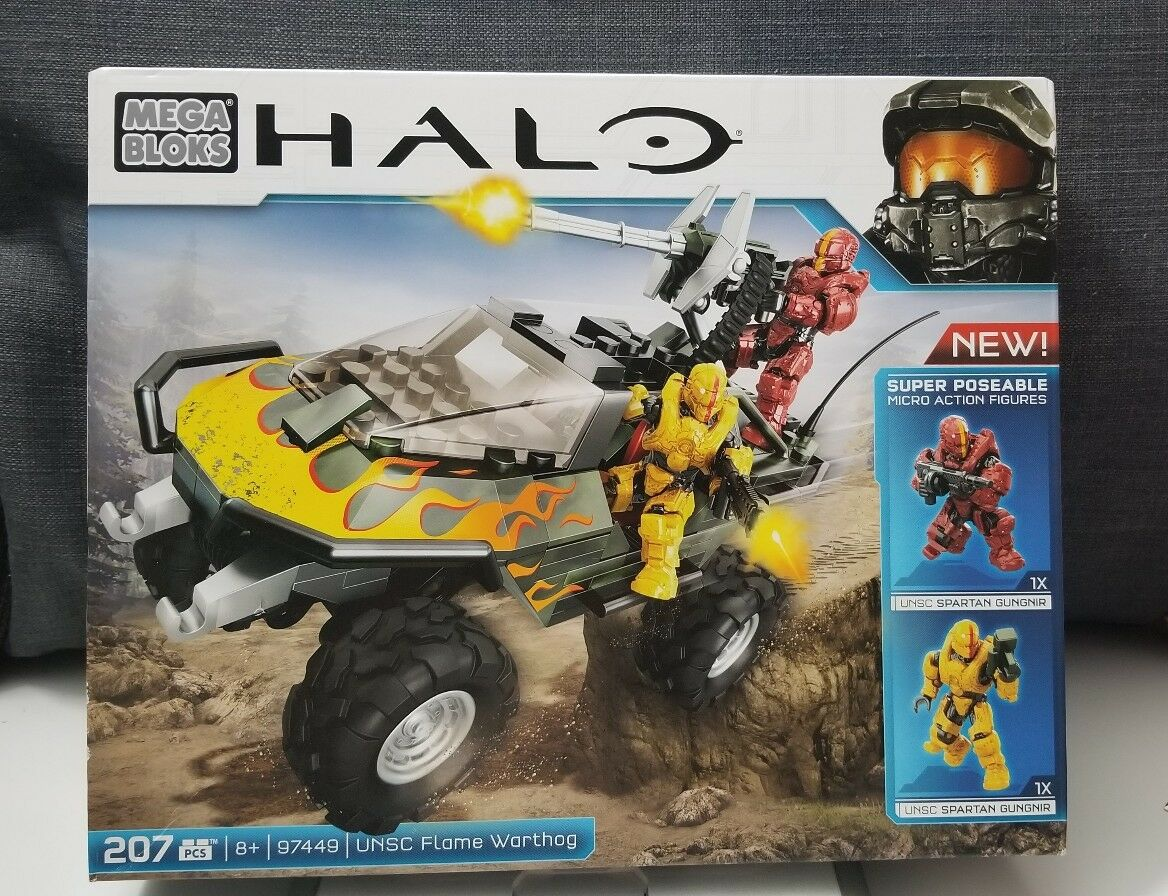 Mega Bloks Halo UNSC Flame Warthog Building Toy With With With 2 Figures Age 8+ NEW IN BOX 6a66e0