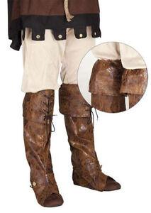 cuir Couvre Pirate Façon Bottes sur de Sur Bottes faux accessoires de Détails deguisement 8nPOkw0X