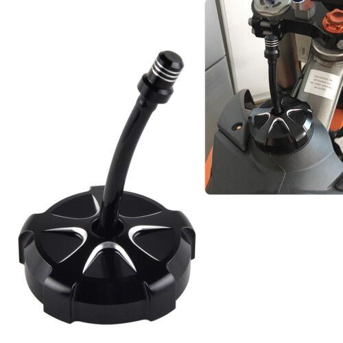 CNC Gas Fuel Tank Cap Vent Fits Suzuki RMZ250 2010-2018 RMZ450 2005-2017 Black