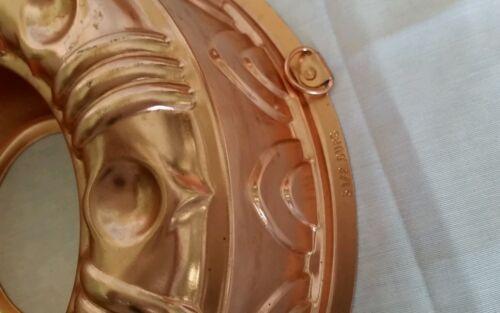 Copper Jello Mold Form 3 1//2 Cups Shiny Clean Perfect