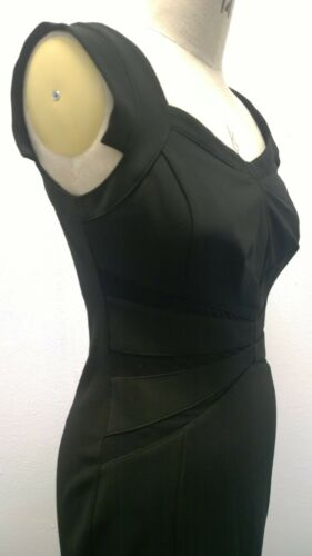 Stile vintage 14 Dress Wiggle Bodycon Stunning 12 Black HBHwvq