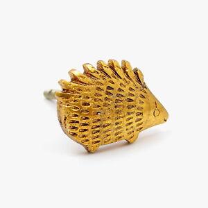 Gold Brass Spiked Kids Hérisson Knob, Tirer, Poignée, Pour Armoires, Portes, Cabine-afficher Le Titre D'origine Grandes VariéTéS