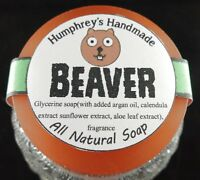 Beaver Shave & Beard Soap Men's Puck Glycerin Bar Pine Woods Stocking Stuffer