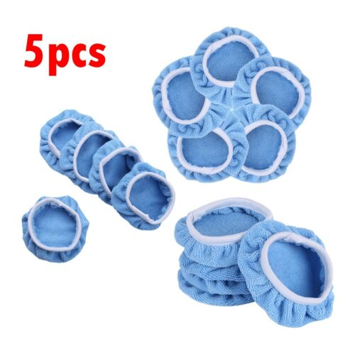 5Pcs Car Polisher Waxing Soft Microfiber Polishing Bonnet Buffing Pad Cover