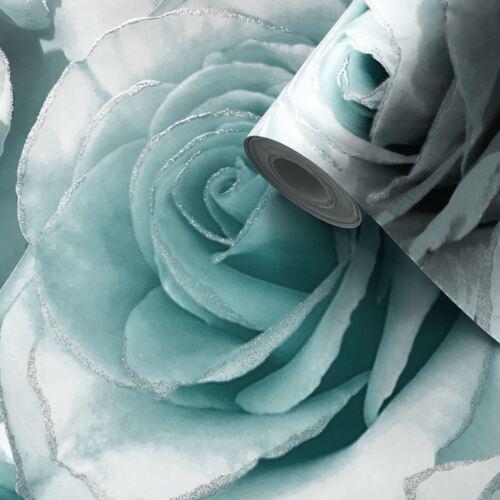 Muriva 139523 Neu Muriva Madison Rose Glitzer Blumen Tapete Wasser//Grau