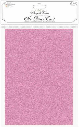 proyecto de álbumes de recortes Boda A4 tarjeta no derramar brillo cartulina Premium