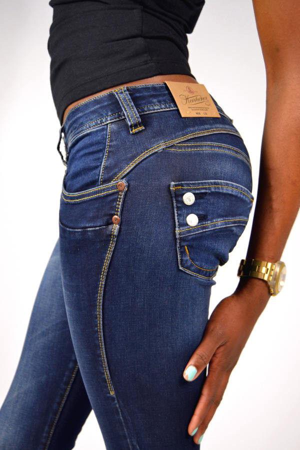 Herrlicher Jeans PIPER SLIM 5606 D9668 051 CLEAN Dunkelblau Größe 24 25 26 28 29