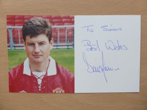 199294 Denis Irwin Signed Man Utd Official Club Card 10248