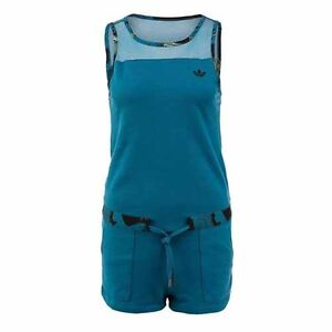 Adidas Originals Womens Hawaiin Teal Jumpsuit Playsuit All In One