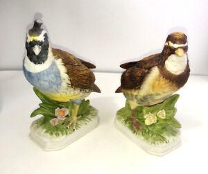 "Napco ""California Quail""Ceramic Collectable Vintage Bird Figurine #  8808 & Bob"