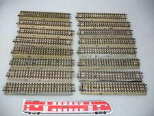AD340-1# 16x Märklin/Marklin H0/00 M-Gleis/Gleisstück/Schienen f. 3600/800