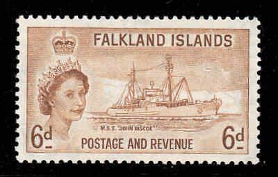 Briefmarken Falkland Inseln 1955 Qeii 6d Research Schiff Sg 190 Postfrisch Aromatischer Geschmack Falklandinseln