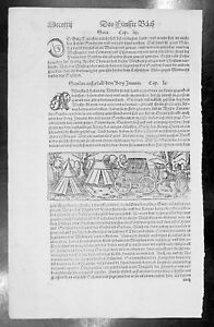 1574-S-Munster-Antique-Engravings-to-Text-of-Scythia-amp-Sogdia-in-Central-Asia
