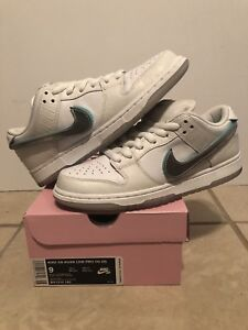 d8cf734e67 New Nike SB Dunk Low Pro Diamond Supply Co White Tiffany Diamond ...