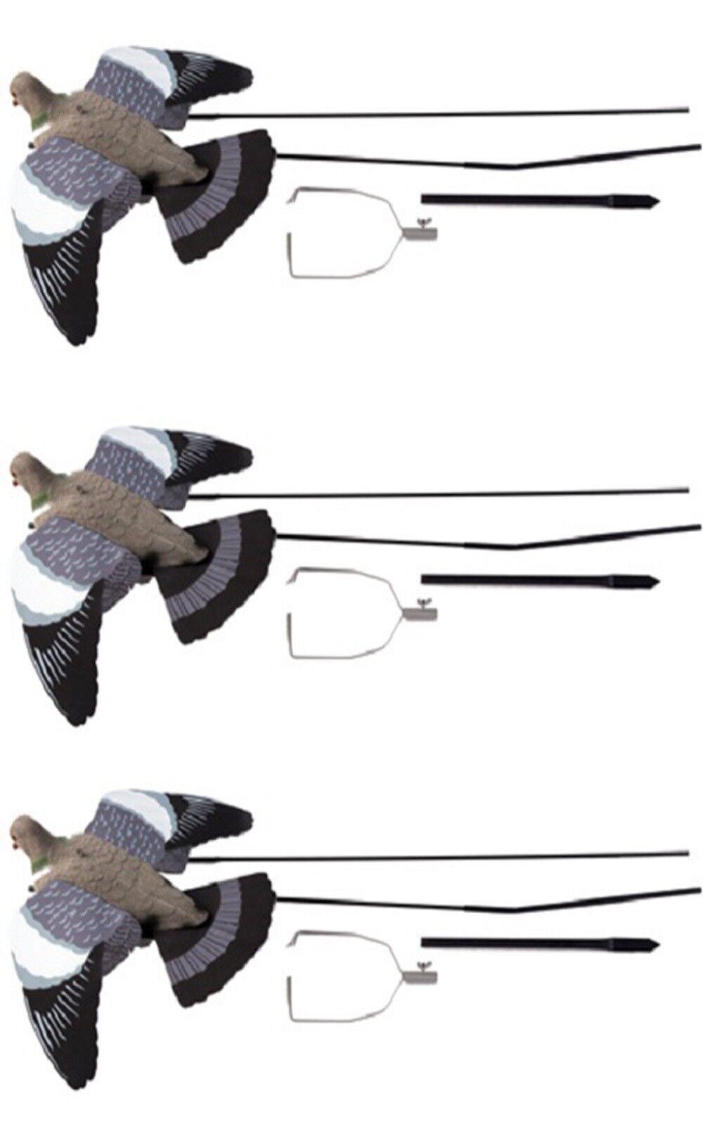 3 X Ultimativ Fliegend Tauben Lockvogel Lockvogel Lockvogel + Rausschmeißer Schießen Köder 3c25f1