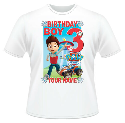 Paw Patrol Birthday Boy Ryder Personalised T-Shirt Ideal Gift or Present