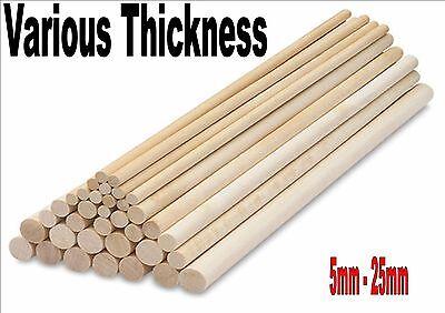 Wooden Hardwood Dowels Birch Ramin Stick Crafts All Sizes 5mm - 25mm