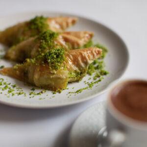 Baklava söbiyet avec pistaches fraîches Fabriqué-Damla baklava