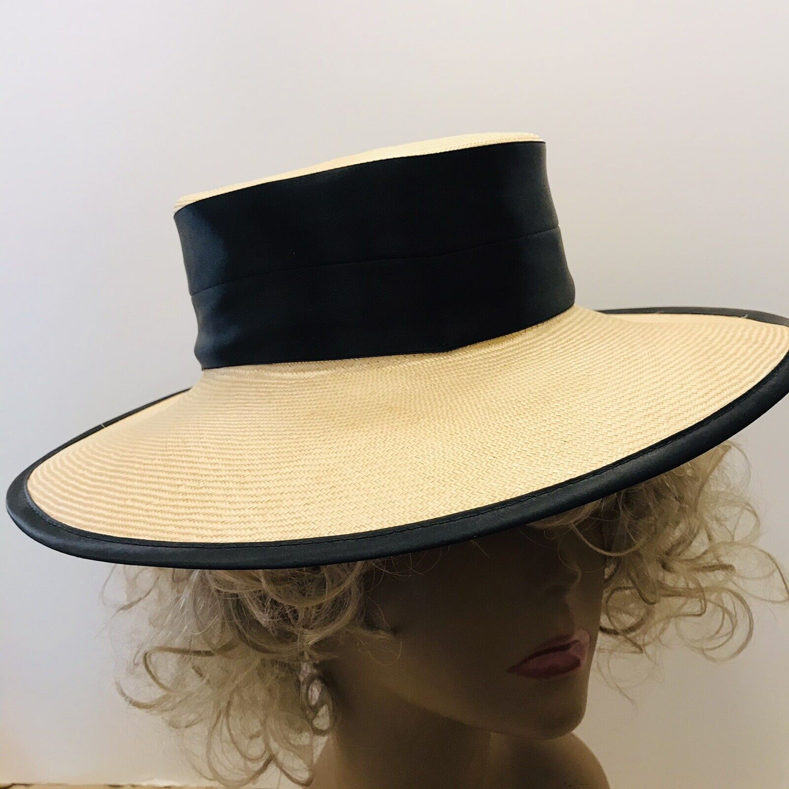 Capo Couture From Austria Vintage Straw Wide Brim… - image 5