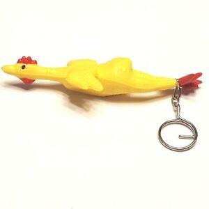 Vintage Rubber Chicken Keychain
