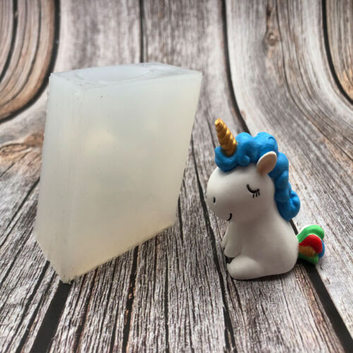 3D Unicorn Silicone Fondant Cake Chocolate Mold Candle Soap Resin Wax Mould Tool