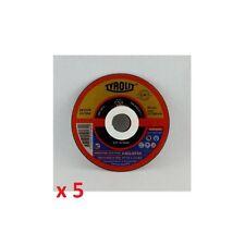 SET 5 DISCHI DISCO TAGLIO FINE METALLO FERRO 114 x 1.0 mm PER SMERIGLIATRICE