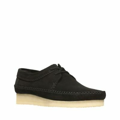 Wallabee Weaver Shoes Black Suede Style