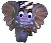 Cesar Republican Elephant Hard Rigid Plastic Costume Adult Mask