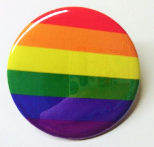 ARC EN CIEL LGBT 2x  BADGE Ø25mm GAY