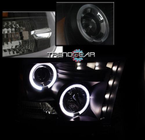 2009-2017 DODGE RAM LED HALO BLACK//SMOKE PROJECTOR HEAD LIGHTS LAMP W//DRL SIGNAL