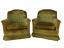 thumbnail 1 - Mustard Yellow Vintage Comfy Club Living Room Chair Armchair Set Lot 2 w/ Wear
