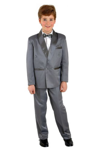 5tlg Kinderanzug Kommunionsanzug Anzug Smoking Kombination Hochzeit Taufe Gr.128