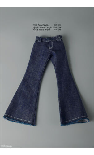 A1 Dollmore 1//4 BJD jeans MSD Soo Flares Pants Jean Blue