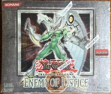 2006 YuGiOh ENEMY OF JUSTICE 1ST EDITION ENGLISH BOOSTER BOX **HOT**